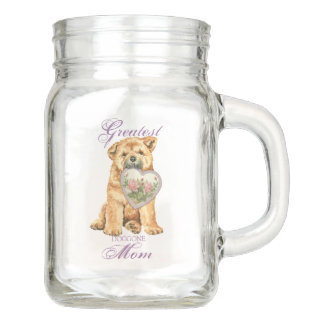 Chow Chow Heart Mom Mason Jar