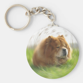 Chow-Chow Hund Key Ring
