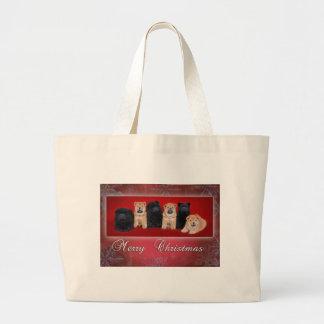 Chow-chow_kartka christmas large tote bag