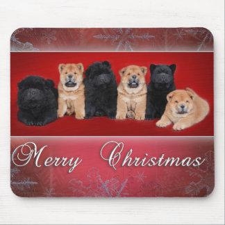 Chow-chow_kartka christmas mouse pad