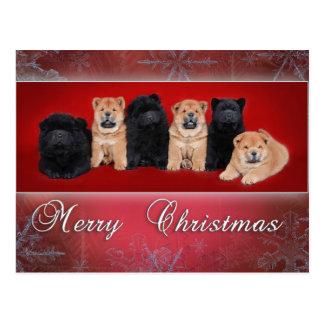 Chow-chow_kartka christmas postcard