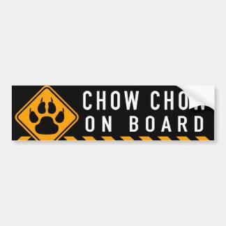 Chow Chow On Board Bumper Sticker