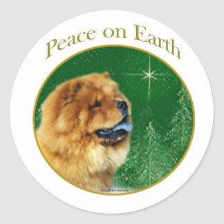 Chow Chow Peace Classic Round Sticker
