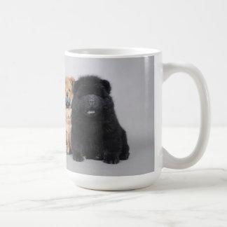 Chow chow puppies coffee mug