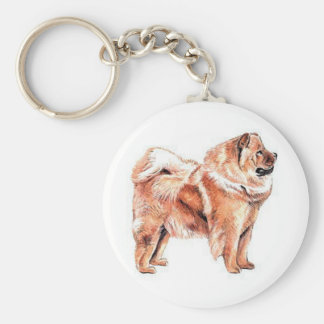 Chow Chow Red Key Ring
