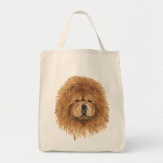 Chow chow red  tote bag