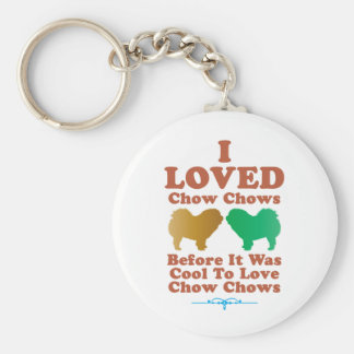 Chow Chow Rough-Coat Basic Round Button Key Ring