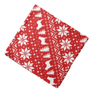 Chow Chow Silhouettes Christmas Pattern Red Bandana