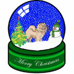 chow chow snow globe photo sculpture