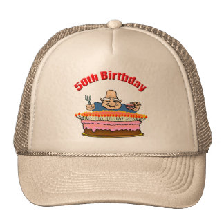 Chow Down 50th Birthday Gifts Trucker Hat