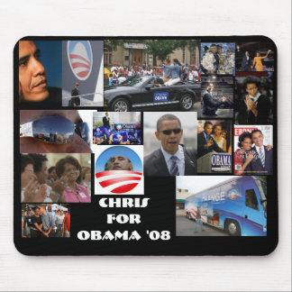Chris 4 OBAMA Mouse Pad