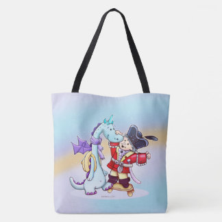 CHRIS AND DRAGOU CARTOON FUNNY TOTE BAG