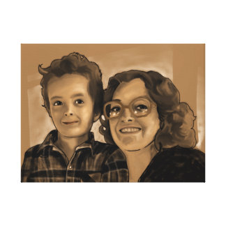Chris and Mom 24x18 Canvas Print