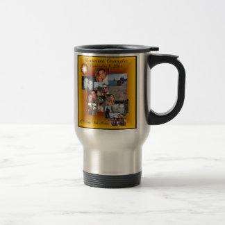 Chris and Monica Collage Travel Mug