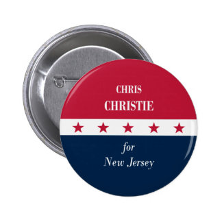 Chris Christie for New Jersey 6 Cm Round Badge