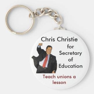 Chris Christie for Secretary of Education Basic Round Button Key Ring
