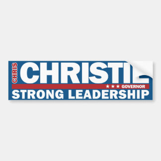 Chris Christie Governor Strong Leadership Sticker Bumper Sticker