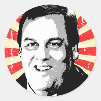 CHRIS CHRISTIE PORTRAIT -.png Classic Round Sticker