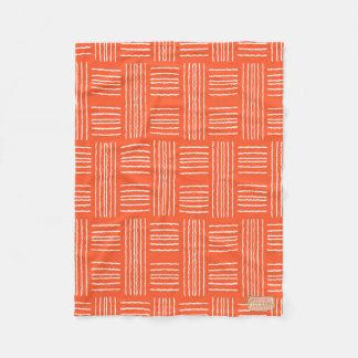 Chris Cross Lines Peach or Pink Fleece Blanket