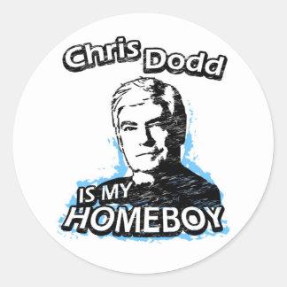 Chris Dodd is my homeboy Round Sticker