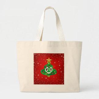 chris emoji poop large tote bag