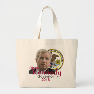 Chris KENNEDY Governor Large Tote Bag
