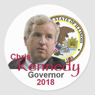 Chris KENNEDY Governor Sticker