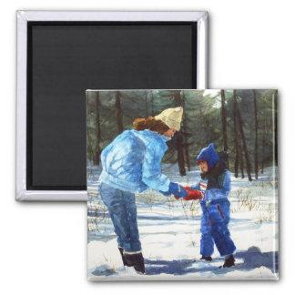 Chris & Sean in the snow Magnet