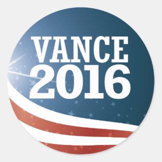Chris Vance 2016 Round Sticker