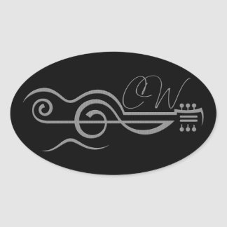 Chris Woodward Treble Guitar Logo Sticker