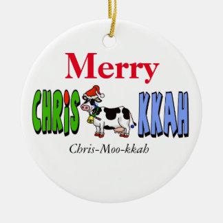 Chrismukkah Cow Christmas Ornament Customize It!