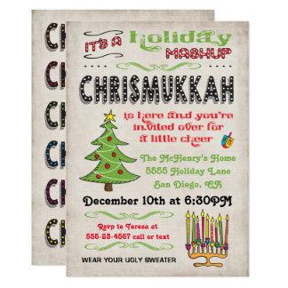 Chrismukkah Holiday Party mashup Card