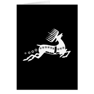 Chrismukkah Reindeer white Card