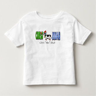 Chrismukkah Toddler's T-shirt with Cow