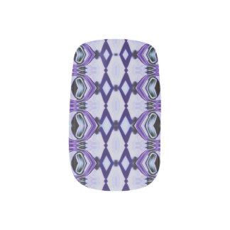 Chrissy's Stripes in purple Minx Nail Art