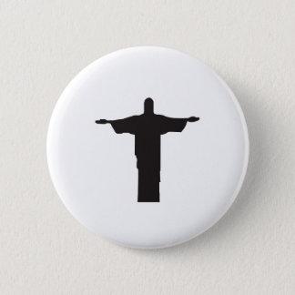Christ 6 Cm Round Badge