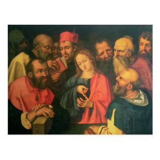 Christ, aged twelve, among the scribes postcard