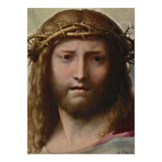 Christ and Crown of Thorns 14 Cm X 19 Cm Invitation Card