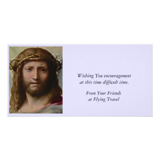 Christ and Crown of Thorns Picture Card