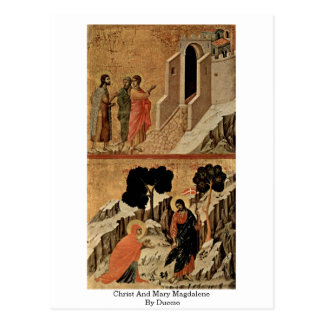Christ And Mary Magdalene By Duccio Postcard