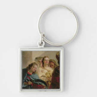 Christ and the Adulteress, 1751 (oil on canvas) Key Chain