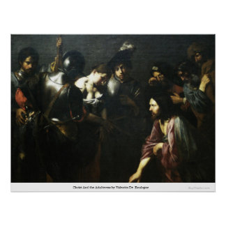 Christ And the Adulteress by Valentin DeBoulogne Print