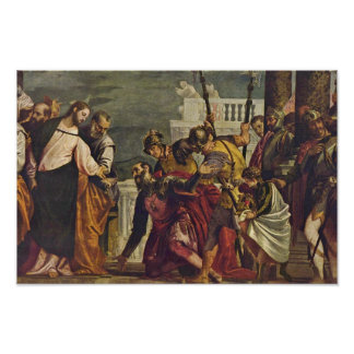 Christ And The Centurion Of Capernaum By Veronese Poster