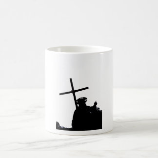 Christ and the cross basic white mug