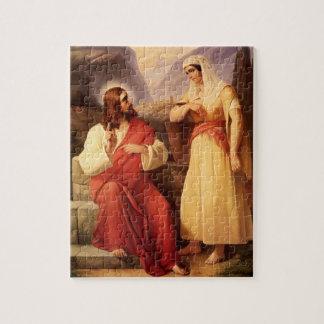Christ and the Samaritan by Christian Schleisner Jigsaw Puzzle
