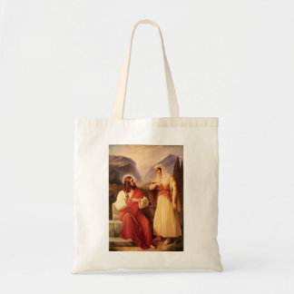 Christ and the Samaritan by Christian Schleisner Tote Bag
