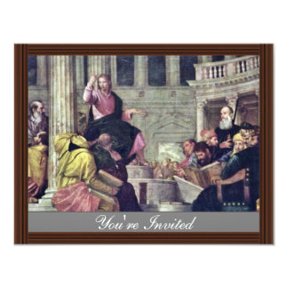 Christ And The Scribes By Veronese Paolo Personalized Announcements