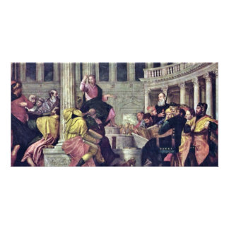 Christ And The Scribes By Veronese Paolo Customized Photo Card