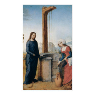 Christ and the Woman of Samaria c. 1500 Business Card