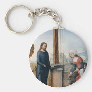 Christ and the Woman of Samaria c 1500 Keychains